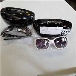2 PAIRS OF ED HARDY SUNGLASSES - UNAUTHENTICATED