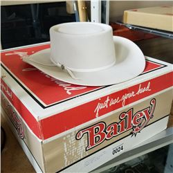 BAILEY MENS FUR BLEND FELT COWBOY HAT IN BOX