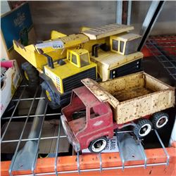 2 TONKA DUMP TRUCKS AND OTHER TOY TRUCK