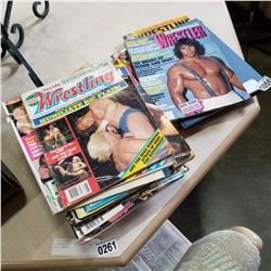 LOT OF WRESTLING MAGAZINES AND BOOKS