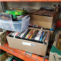 6 BOXES OF DVDS