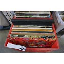 RED CRATE OF VARIOUS RECORDS