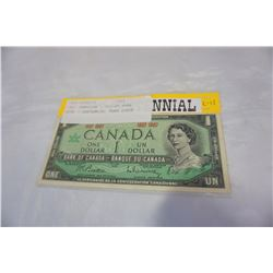 1967 CANADIAN 1 DOLLAR BANK NOTE - CENTENNIAL YEAR ISSUE