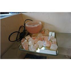 HIMALAYAN SALT LAMP W/ ROCKS