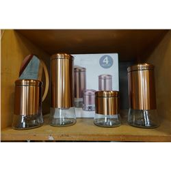 NEW 4 PIECE CANNISTER SET