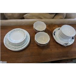 42PCS OF ASSORTED CORELLE DISHES AND 4 OTHER SERVING BOWLS