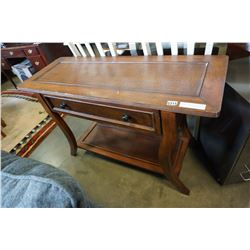 LEATHER INSERT HALL TABLE
