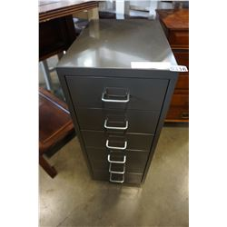 GREY 6 DRAWER METAL ORGANIZER