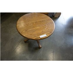 ROUND OAK END TABLE