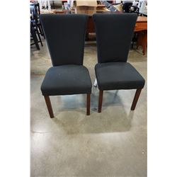 2 BLACK FABRIC CHAIRS
