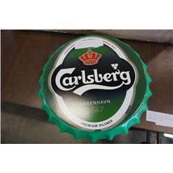 NEW BOTTLE CAP TIN SIGN - CARLSBERG