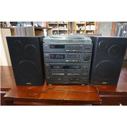 AIWA CD PLAYER, CASSETTE, AMP, TUNER, RECORD PLAYER