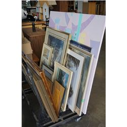 LARGE LOT OF PRINTS AND PAINTINGS