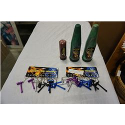 LOT OF FASHION PIPE PENDANTS AND HONEY BEE EXTRACTORS SMOKING OIL EXTRACTORS