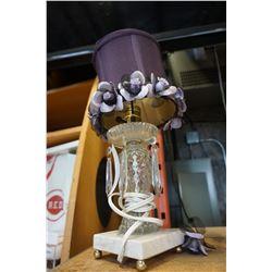 CRYSTAL LAMP W/ MARBLE BASE