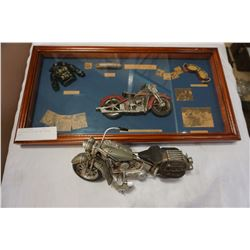 MOTORCYCLE FIGURE AND SHADOW BOX