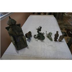EASTERN FIGURE, DRAGON, STONE LION, ETC