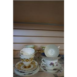 LOT OF CHINA CUPS AND SAUCERS