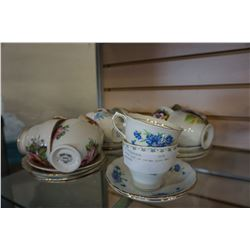 LARGE LOT OF CHINA CUPS AND SAUCERS