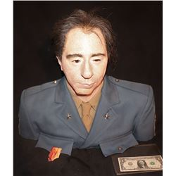 MILITARY OFFICER RESIN BUST WITH REAL HAIR AND CLOTHING INDUSTRIAL STRENGTH