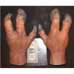 CREATURE ALIEN DEMON MATCHED PAIR OF WEARABLE HANDS