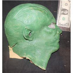 GREEN ALIEN FULL HEAD LATEX MASK