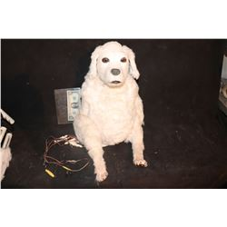 DOG ANIMATRONIC PUPPET WITH MECHANISM ALL INTACT