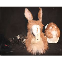 THE SANTA CLAUSE 3 HERO ANIMATRONIC EASTER BUNNY MASK WITH TEETH & COMPLETE MECHANISM