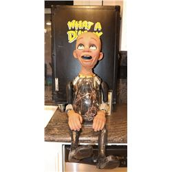 WHAT A DUMMY COMPLETE ANIMATRONIC HERO PUPPET WITH ROAD CASE