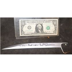 X-MEN WOLVERINE SCREEN MATCHED HERO F*CK YOU SINGLE CLAW HAND SIGNED BY HUGH JACKMAN