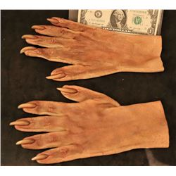 X-MEN SABRETOOTH SCREEN USED HERO STAGE 2 RESIN CLAWS ON SILICONE GLOVES
