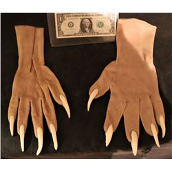 X-MEN SABRETOOTH UNUSED STAGE 3 SILICONE GLOVES WITH CLAWS