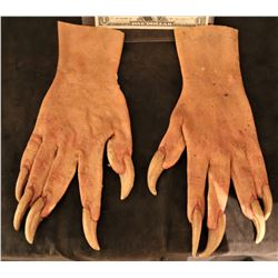 X-MEN SABRETOOTH SCREEN USED STUNT STAGE 3 SILICONE GLOVES WITH CLAWS 1