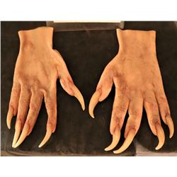 X-MEN SABRETOOTH SCREEN USED STUNT STAGE 3 SILICONE GLOVES WITH CLAWS 3