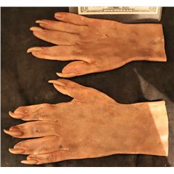 X-MEN SABRETOOTH SCREEN USED STUNT STAGE 2 SILICONE GLOVES WITH CLAWS 5