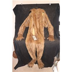 LION OR BEAR FUR SUIT WITH PAWS