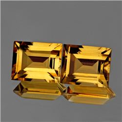 Natural AAA Golden Yellow Citrine Pair {Flawless}