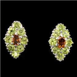 Natural Yellow Citrine & Peridot Earrings