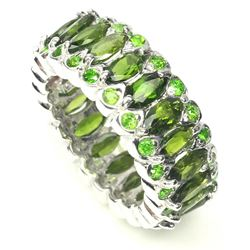 Natural Unheated Marquise Chrome Diopside Ring