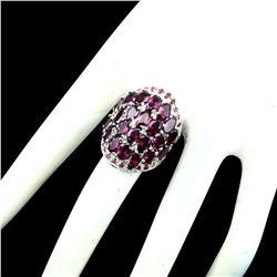 Natural Pink Raspberry Rhodolite Garnet Ruby Ring