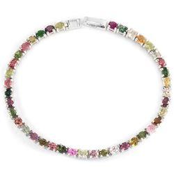 NATURL MULTI COLOR TOURMALINE Bracelet