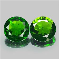 Natural Green Chrome Diopside Pair 3.17 Carats - VS