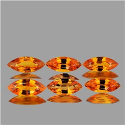 NATURAL ORANGE SAPPHIRE 5x2.5 MM - FL