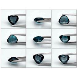 Natural London Blue Topaz Heart 3.58 Carats