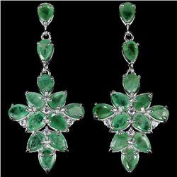 NATURAL COLUMBIAN GREEN EMERALD Earrings