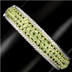 Natural Top Rich Green Peridot 169.50 Ct Bangle
