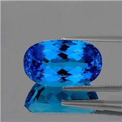 NATURAL INTENSE SWISS BLUE TOPAZ 15 MM  [IF-VVS]