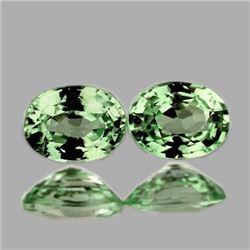 NATURAL GREEN SAPPHIRE PAIR  [FLAWLESS-VVS1]