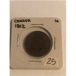 Early 1912 Canada Large Cent