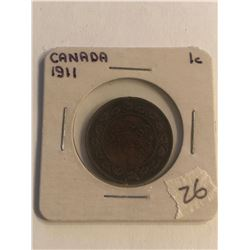 Early 1911 Canada Large Cent